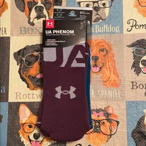 UA Phenom Crew Socks